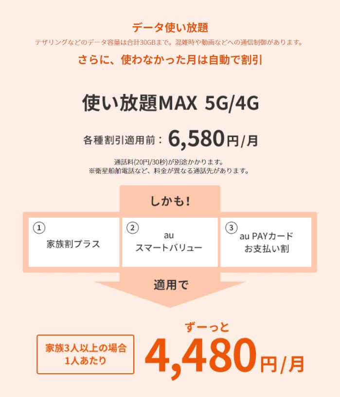 使い放題MAX5G/4G